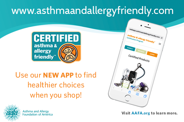 Download the Asthma & Allergy Friendly® Certification Program App