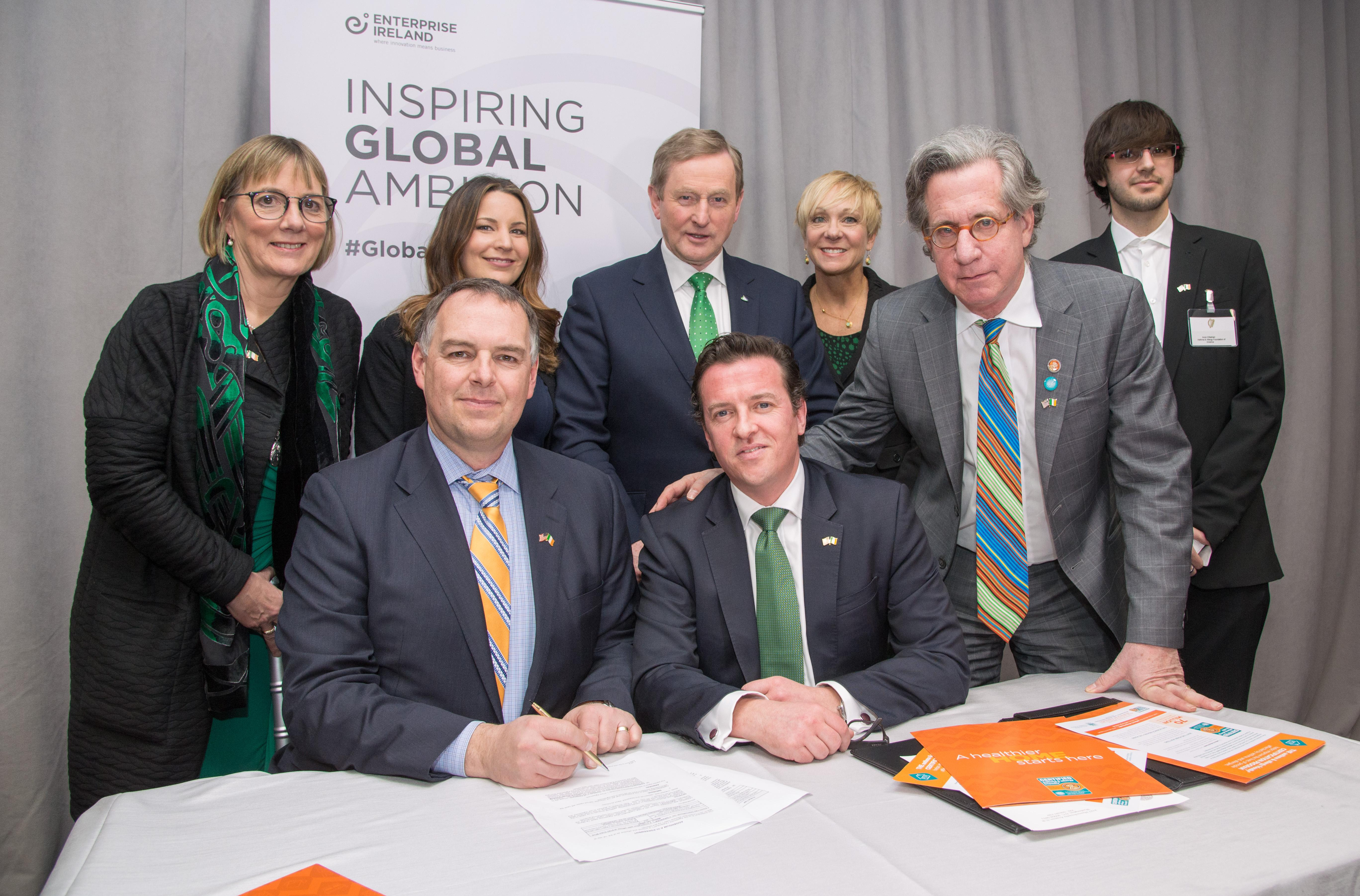 Taoiseach Enda Kenny, John McKeon, Julie Sinnamon, Dr. Cary Sennett, Julian Francis, Science Foundation Ireland, United States Institute of Peace, Owens Corning