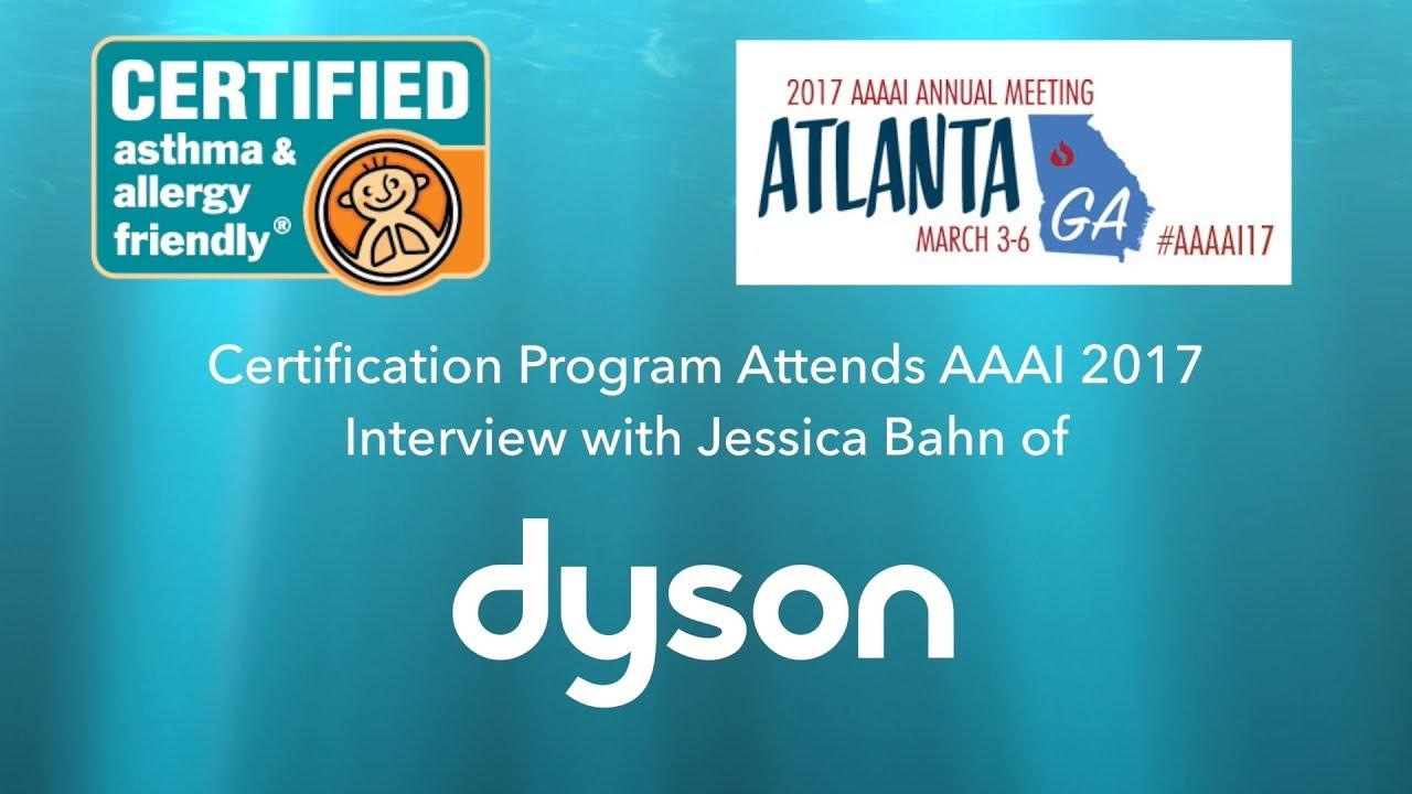 Dyson Interview With Jessica Bahn At AAAAI 2017
