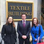Courtney Sunna, Dr. John McKeon & Michele Cassalia at the New York Textile Building