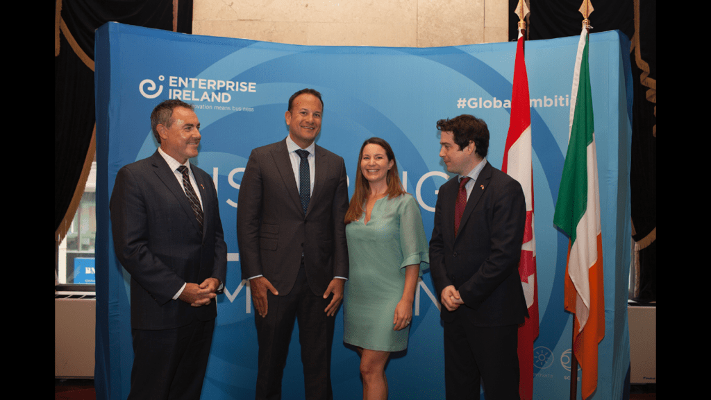 ASL team and Irish Taoiseach in Toronto