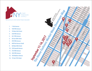 Showroom Map of New-York Home Fashions Market Week