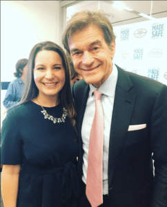 Courtney Sunna with Dr. Oz at the Good Housekeeping Institute in New York City on November 8, 2017