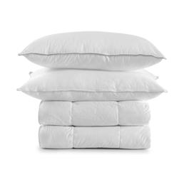 Bedding, pillows, duvets