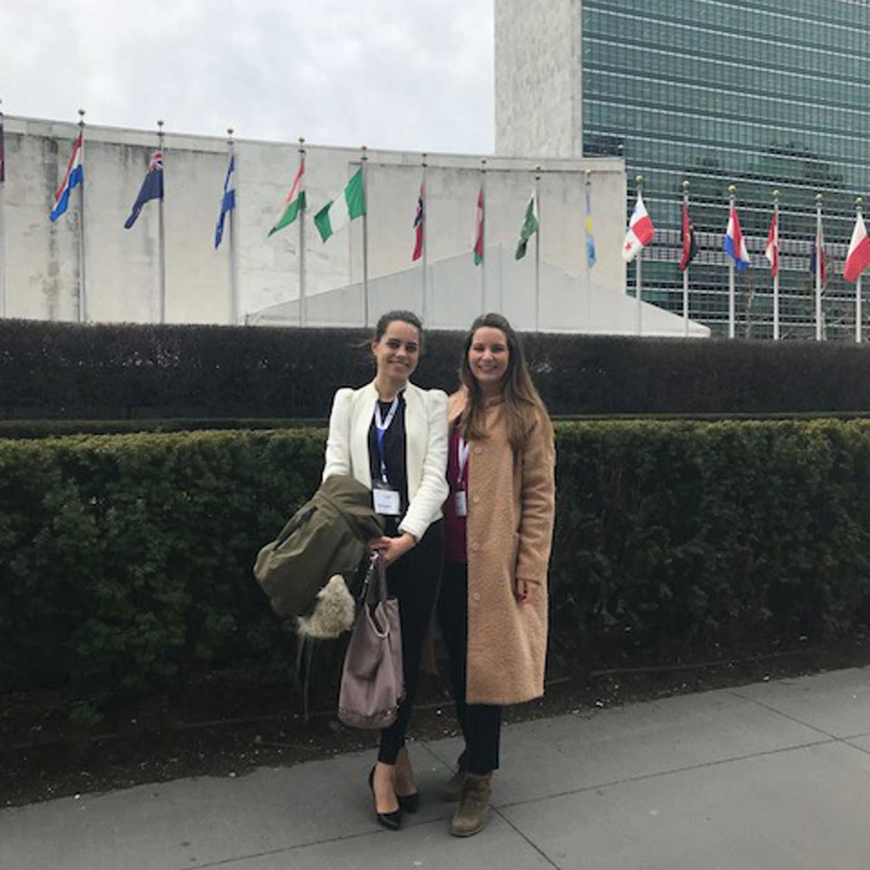 Courtney and Lea UN Headquarters