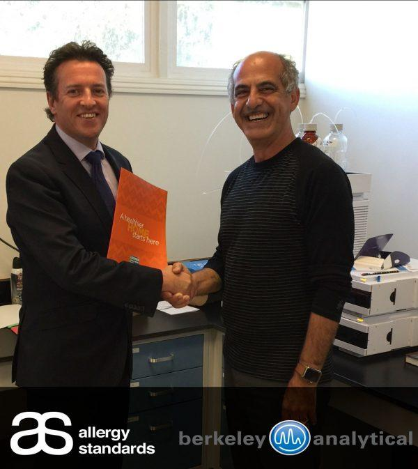 Dr John McKeon ASL CEO & Raja Tannous, Berkeley Analytical co-founder and Laboratory Director