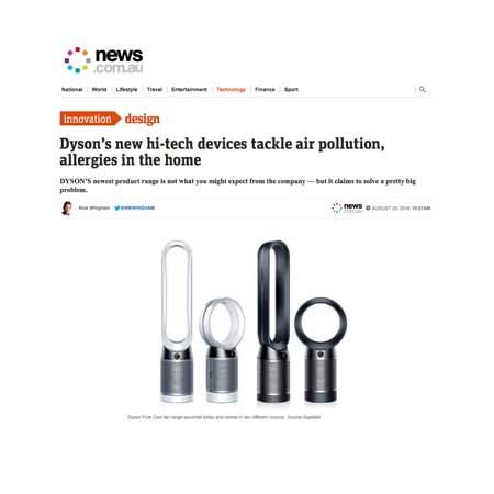Dyson High Tech air purifiers asthma & allergy friendly®