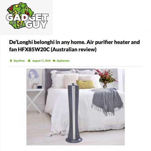 DeLonghi review air purifiers