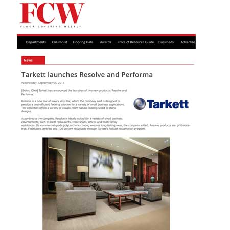 Floor Covering Weekly Performa Tarkett
