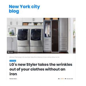 LG Styler in New York City Blogger