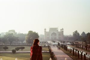 Sophie during her trip in India. Places where air quality may not be as good as expected by Dr. Anna Donovan. Guest Writer, Allergy Standards