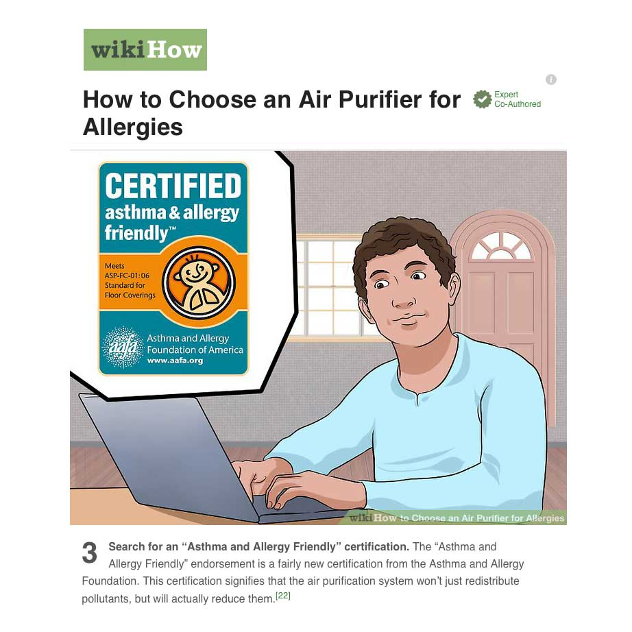 Article on WikiHow on How to choose an air purifier - asthma & allergy friendly®