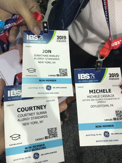 US Certification Program team at Building Shows IBS and KBIS 2019