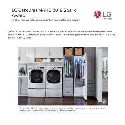 LG awarded the 2019 Spark Award