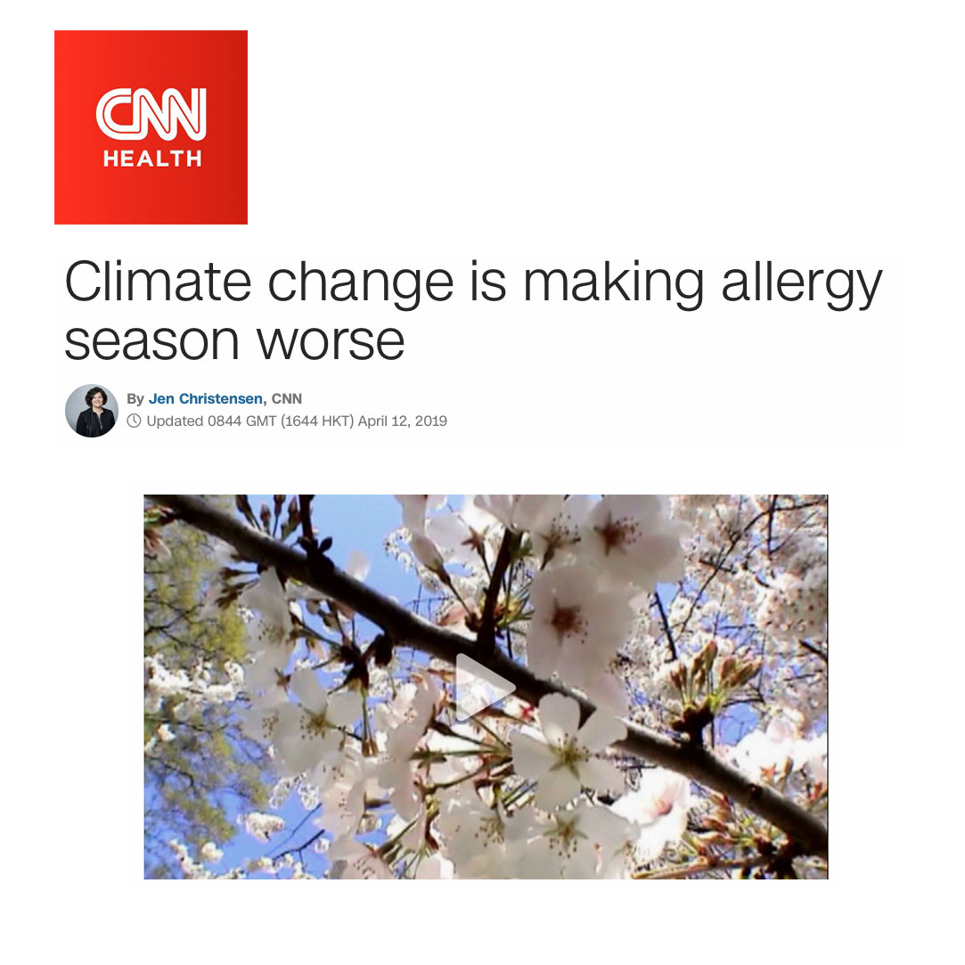 CNN Climate Change is making allergy season worse - Allergy Standards, asthma & allergy friendly Certification Program