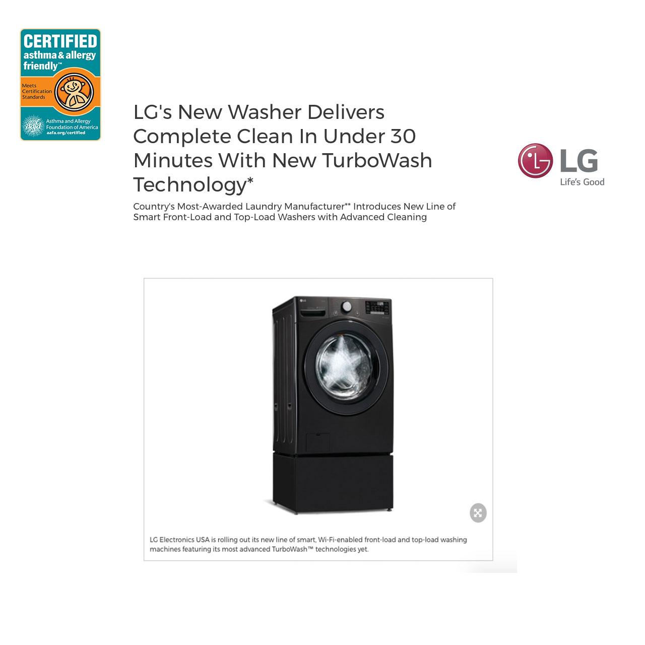 LG-New-washing-machine-certified-asthma-allergy-friendly-allergy-standards