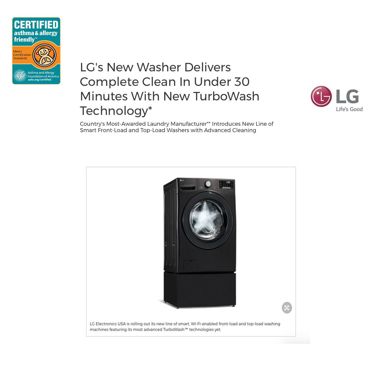 LG-New-washing-machine-certified-asthma-allergy-friendly-allergy-standards