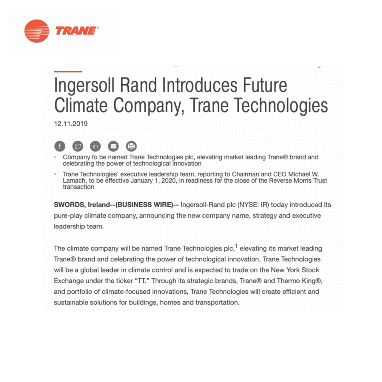 trane-ingersoll-rand-climate-technology-allergy-standards
