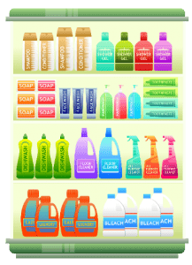antimicrobials in household cleaners and grooming products