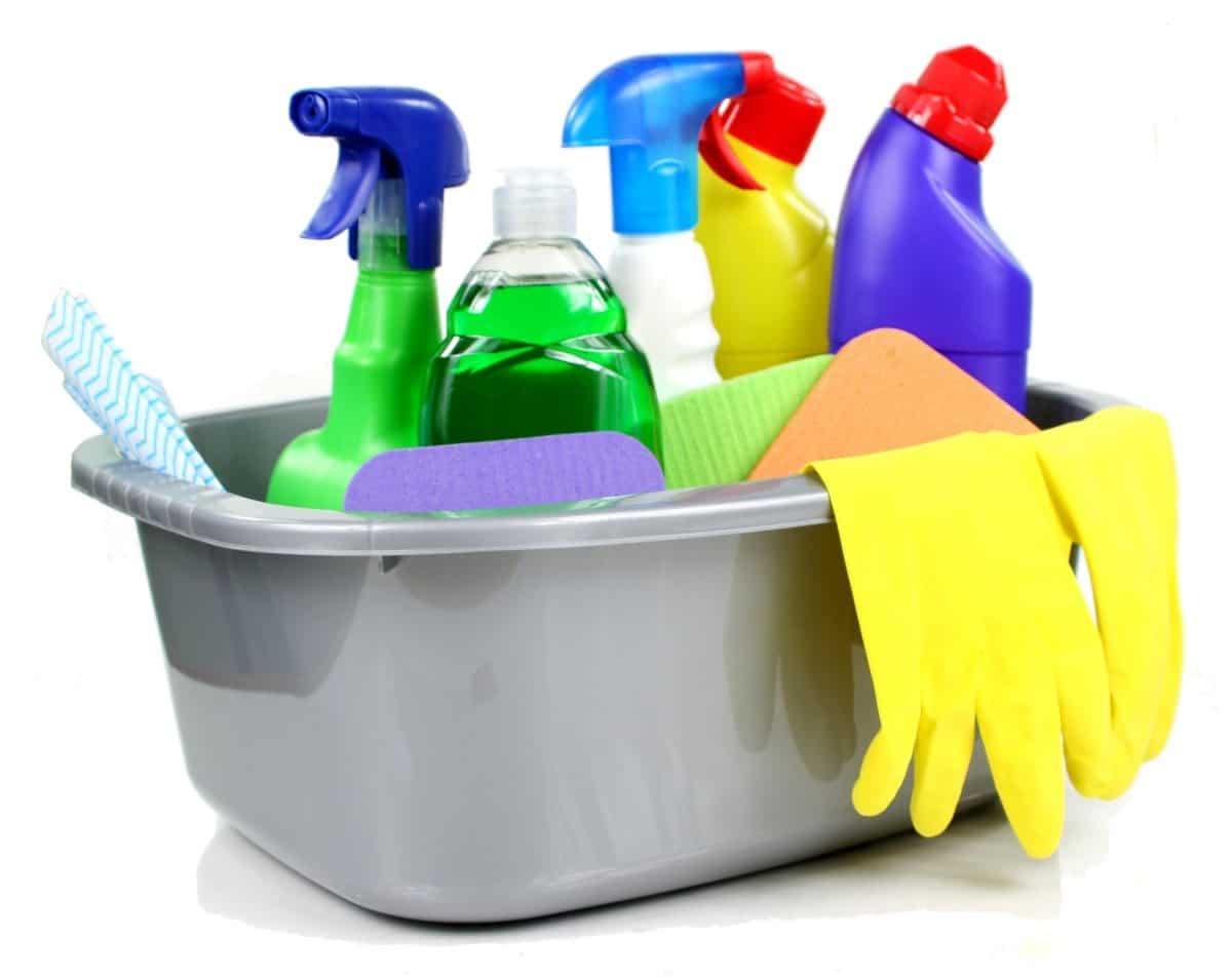 cleaning products and babies and asthma