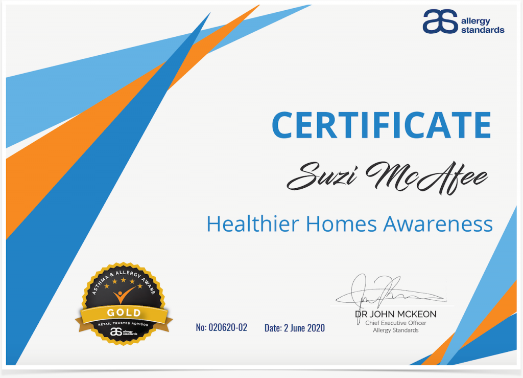 Certificate Healthier Homes Awareness for Building Professionals