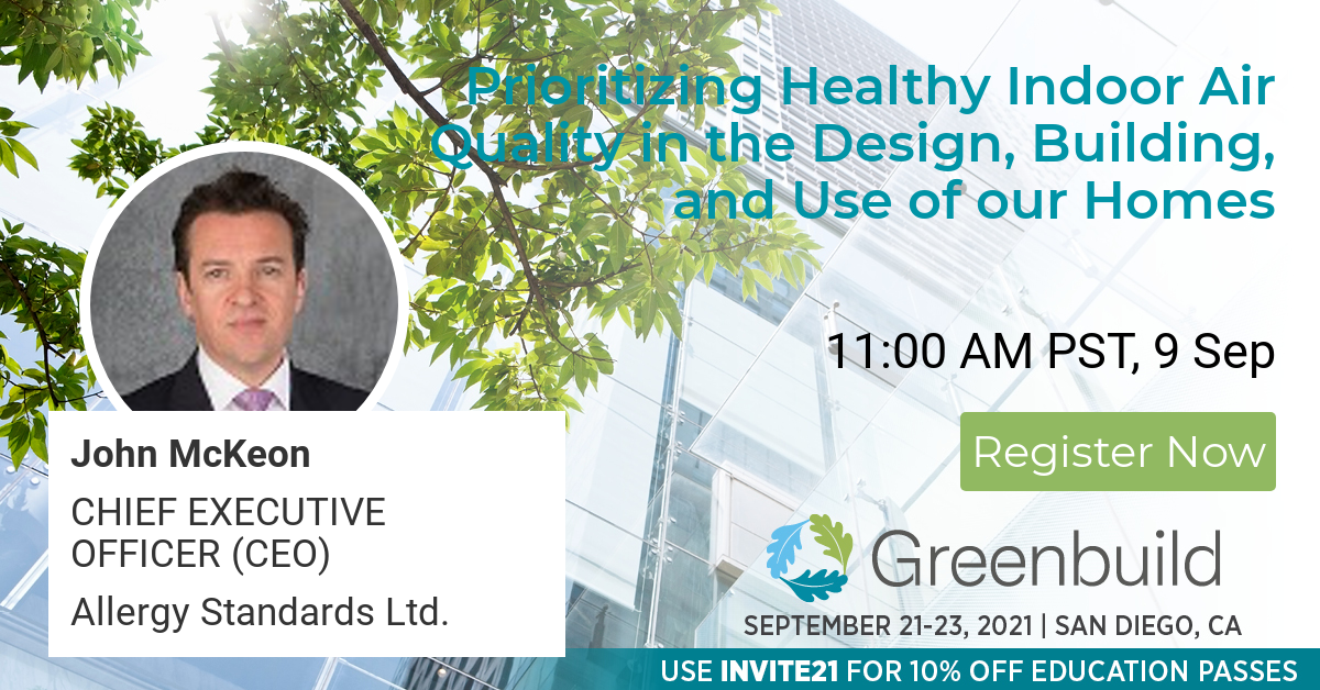 Dr John McKeon at Greenbuild 2021
